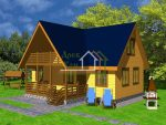 Дом 6 на 12 – Проект двухэтажного дома из бруса 6х12 с мансардой. Заказать брусовой дом 6х12: планировка и фото