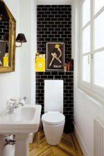 Фото туалет в плитке – бюджетный вариант дизайна и идеи-2018 оформления, сравнение до и после ремонта и отделки кафелем, как положить своими руками
