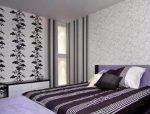 Комбинированные обои для спальни фото – оформление разными комбинациями, сочетание между собой, идеи, варианты как поклеить комнату, видео