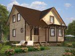 Проекты домов 9 на 8 с мансардой из бруса – Дом из бруса 8х9 с мансардой. 131 м2 – цена, характеристики, комплектация